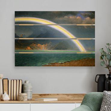 Holzbild - Albert Bierstadt - Regenbogen über Jenny Lake - Querformat 2:3