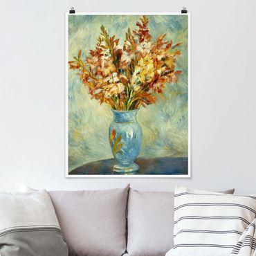 Poster - Auguste Renoir - Gladiolen in Vase - Hochformat 3:4