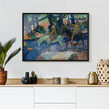 Bild mit Rahmen - Paul Gauguin - Die Flucht - Querformat 3:4