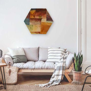 Hexagon Bild Holz - Paul Klee - Einöde
