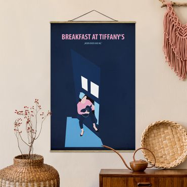 Stoffbild mit Posterleisten - Filmposter Breakfast at Tiffany´s - Hochformat 2:3