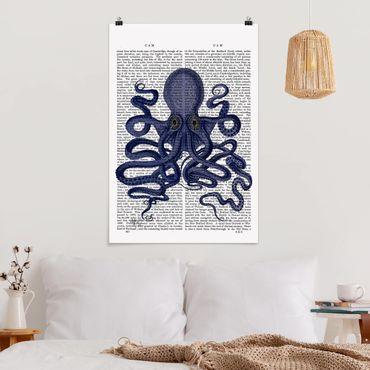 Poster - Tierlektüre - Oktopus - Hochformat 3:2