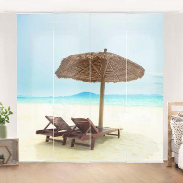 Schiebegardinen Set - Beach of Dreams - Flächenvorhänge