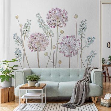 Metallic Tapete  - Allium Illustration