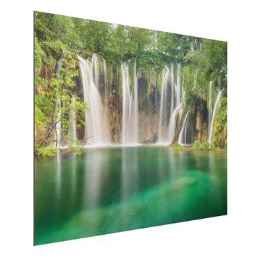 Alu-Dibond Bild - Wasserfall Plitvicer Seen
