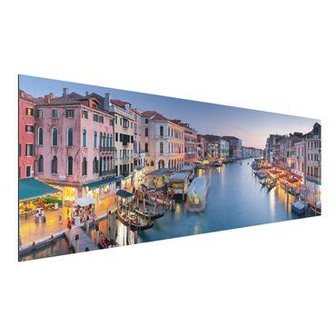 Alu-Dibond Bild - Abendstimmung auf Canal Grande in Venedig