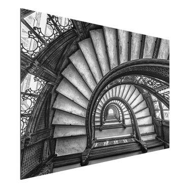 Aluminium Print - Chicagoer Treppenhaus - Querformat 2:3