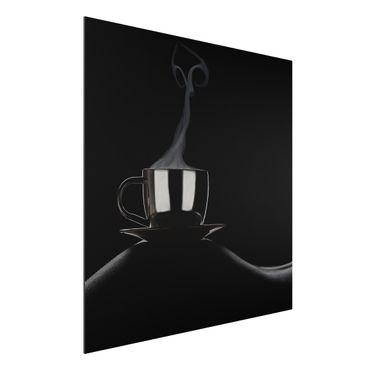 Alu-Dibond Bild - Coffee in Bed