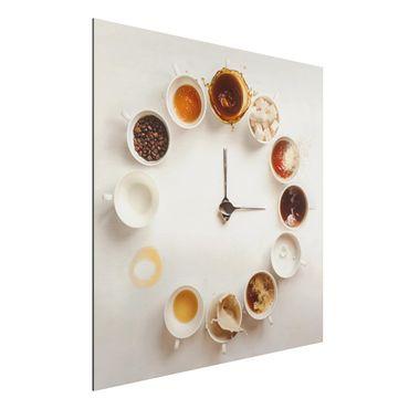 Alu-Dibond Bild - Coffee Time