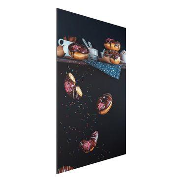 Alu-Dibond Bild - Donuts vom Küchenregal