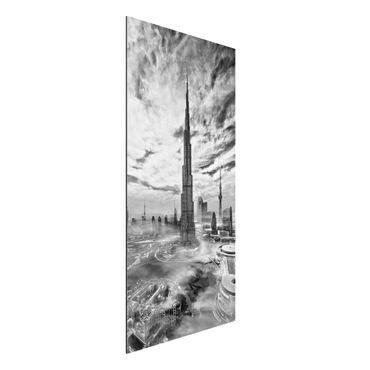 Aluminium Print - Dubai Super Skyline - Hochformat 2:1