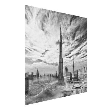 Aluminium Print - Dubai Super Skyline - Quadrat 1:1