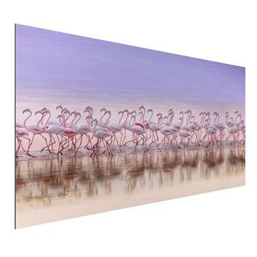 Aluminium Print - Flamingo Party - Querformat 1:2