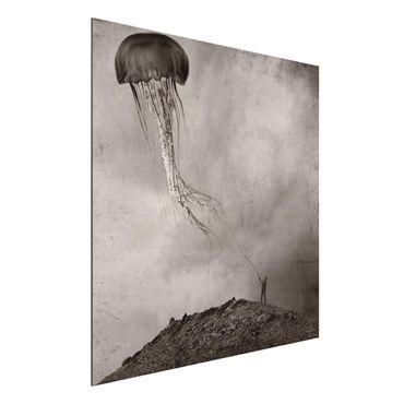 Aluminium Print - Fliegende Medusa - Quadrat 1:1