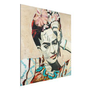 Alu-Dibond Bild - Frida Kahlo - Collage No.1