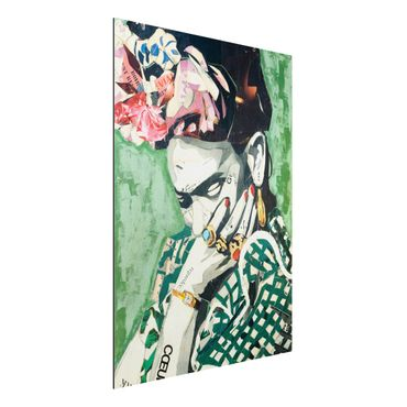 Alu-Dibond Bild - Frida Kahlo - Collage No.3