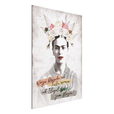 Alu-Dibond Bild - Frida Kahlo - Zitat