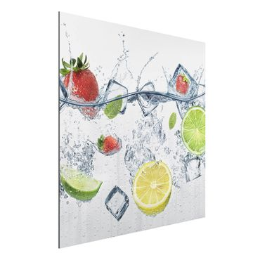 Alu-Dibond Bild - Frucht Cocktail