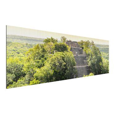 Alu-Dibond Bild - Pyramide von Calakmul