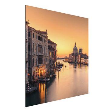 Aluminium Print - Goldenes Venedig - Quadrat 1:1