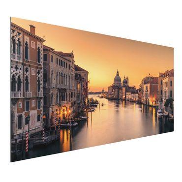 Aluminium Print - Goldenes Venedig - Querformat 1:2