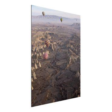 Aluminium Print - Heißluftballons über Anatolien - Hochformat 4:3