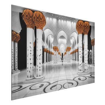 Alu-Dibond Bild - In der Moschee
