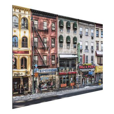 Alu-Dibond Bild - Kalter Tag in NY