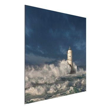 Alu-Dibond Bild - Leuchtturm auf Sardinien