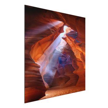 Alu-Dibond Bild - Lichtspiel im Antelope Canyon