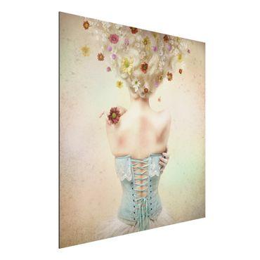 Alu-Dibond Bild - Mädchen aus dem Blumengarten