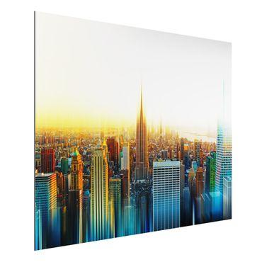 Alu-Dibond Bild - Manhattan Abstrakt