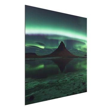 Alu-Dibond Bild - Polarlicht in Island