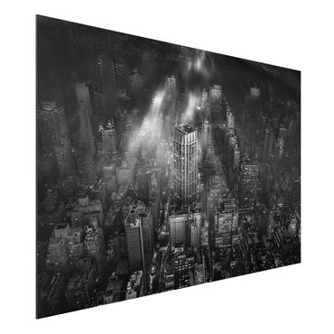 Aluminium Print - Sonnenlicht über New York City - Querformat 2:3