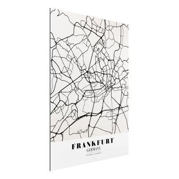 Alu-Dibond Bild - Stadtplan Frankfurt - Klassik