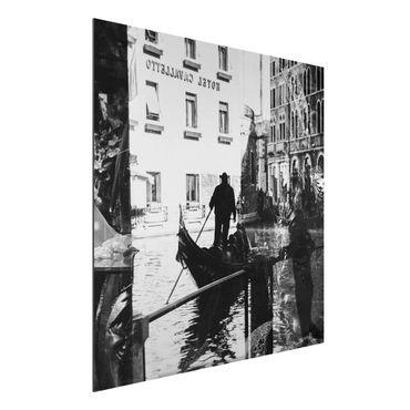 Alu-Dibond Bild - Venice Reflections