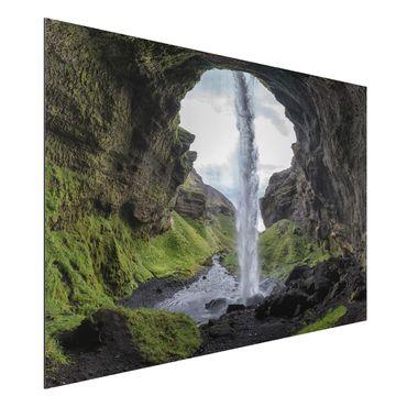 Alu-Dibond Bild - Verborgener Wasserfall