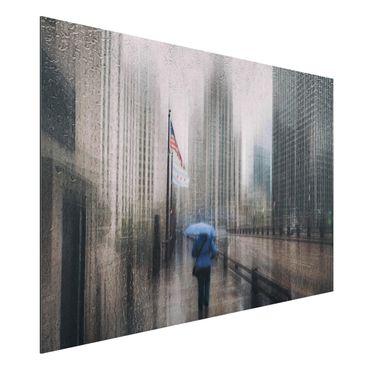 Aluminium Print - Verregnetes Chicago - Querformat 2:3