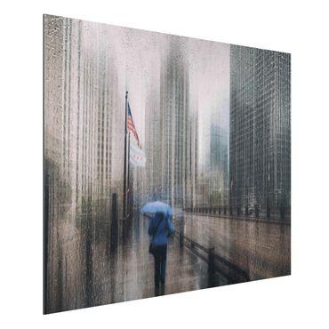 Aluminium Print - Verregnetes Chicago - Querformat 3:4