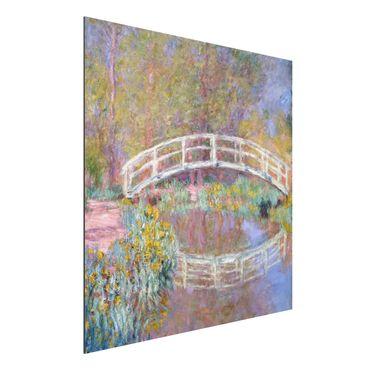 Alu-Dibond Bild - Claude Monet - Brücke in Monets Garten