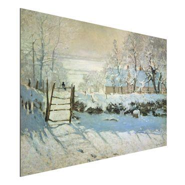 Alu-Dibond Bild - Claude Monet - Die Elster