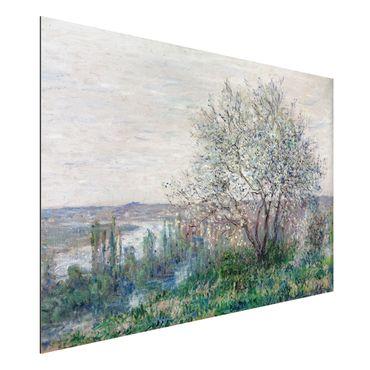 Alu-Dibond Bild - Claude Monet - Frühlingsstimmung bei Vétheuil