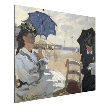 Alu-Dibond Bild - Claude Monet - Am Strand von Trouville