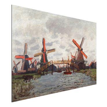 Alu-Dibond Bild - Claude Monet - Windmühlen in Westzijderveld in der Nähe von Zaandam