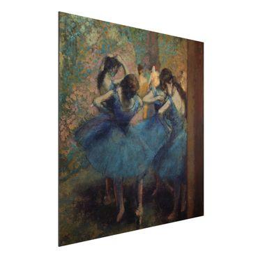 Alu-Dibond Bild - Edgar Degas - Die blauen Tänzerinnen