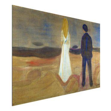 Alu-Dibond Bild - Edvard Munch - Zwei Menschen. Die Einsamen (Der Reinhardt-Fries)