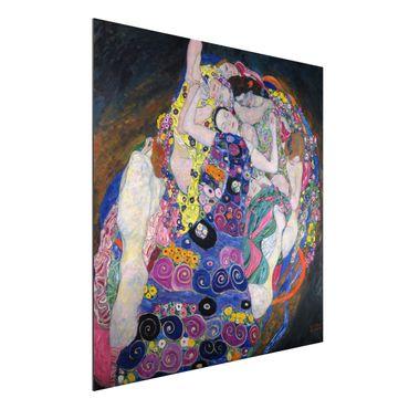Alu-Dibond Bild - Gustav Klimt - Die Jungfrau