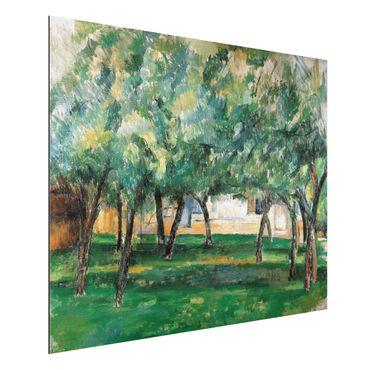 Alu-Dibond Bild - Paul Cézanne - Gehöft in der Normandie