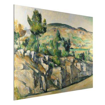 Alu-Dibond Bild - Paul Cézanne - Hügelige Landschaft in der Provence