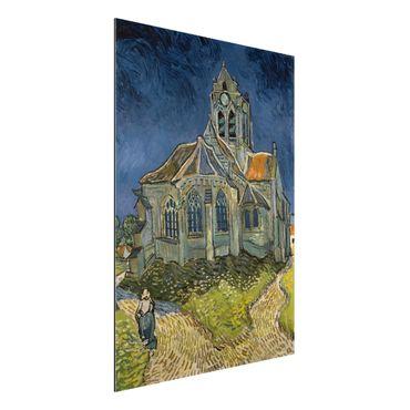 Alu-Dibond Bild - Vincent van Gogh - Die Kirche von Auvers